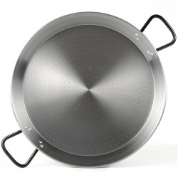 50cm - 14 Raciones - Paella de Acero Pulido Profesional - Pata Negra