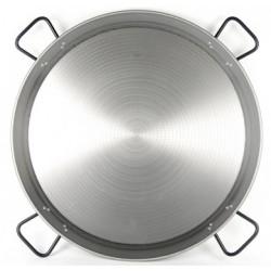 90cm - 50 Raciones - Paella de Acero Pulido Profesional - Pata Negra