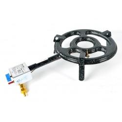 30 cm - Paellero Plano Profesional Homologado para Interiores de Gas Butano / Propano